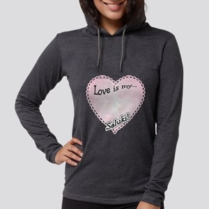 SalukiLoveIsdark Womens Hooded Shirt