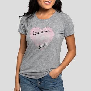 SalukiLoveIsdark Womens Tri-blend T-Shirt