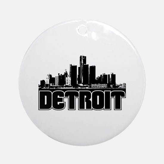 Detroit Skyline Ornament (Round)