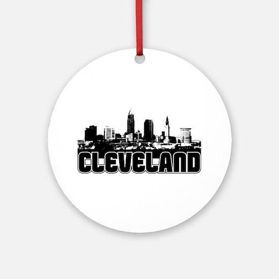 Cleveland Skyline Ornament (Round)