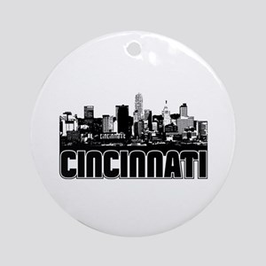 Cincinnati Skyline Ornament (Round)