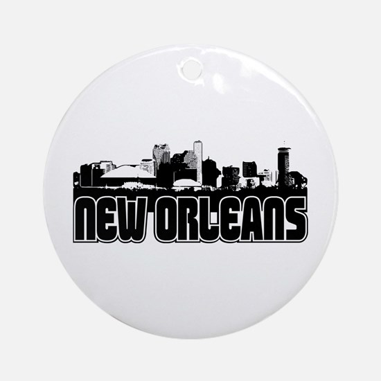 New Orleans Skyline Ornament (Round)