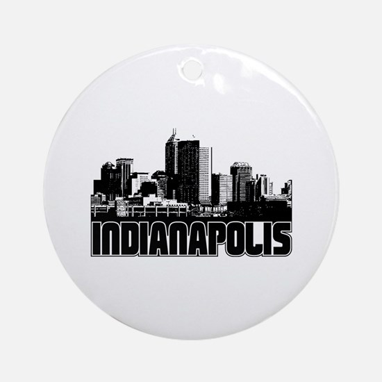 Indianapolis Skyline Ornament (Round)