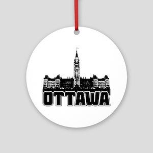 Ottawa Skyline Ornament (Round)