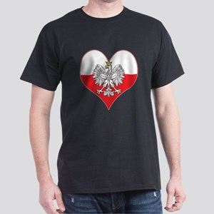 Polish Eagle Heart Dark T-Shirt