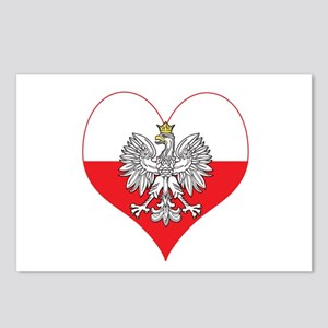 Polish Eagle Heart Postcards (Package of 8)
