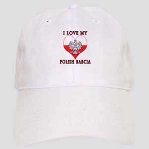 I Love My Polish Babcia Cap