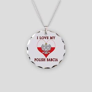 I Love My Polish Babcia Necklace Circle Charm