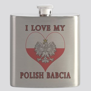 I Love My Polish Babcia Flask