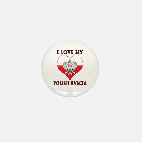 I Love My Polish Babcia Mini Button