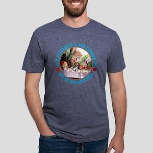 ALICE_ NO JAM TODAY_BLUE co Mens Tri-blend T-Shirt