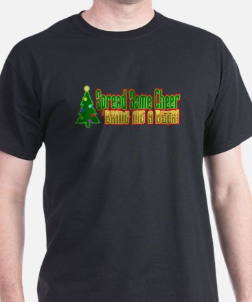 Spread Some Cheer Bring Beer Christmas T-Shirt
