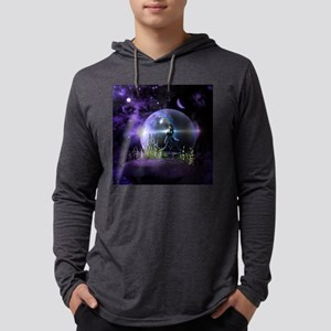 Dancing on a mountain with a uni Mens Hooded Shirt
