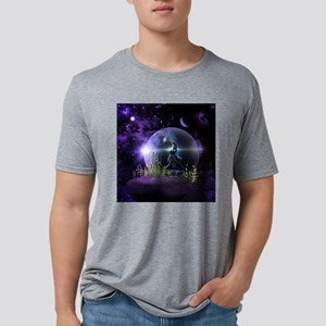 Dancing on a mountain with  Mens Tri-blend T-Shirt
