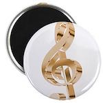 Gold Treble Clef Magnet