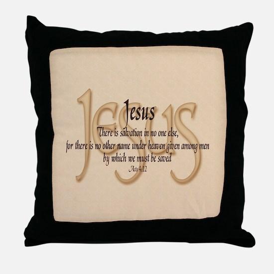 Jesus Acts 4:12 Throw Pillow