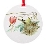 Gold Finch Painting Round Ornament