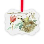 Gold Finch Painting Picture Ornament