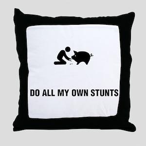 Pig Petting Throw Pillow