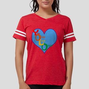 yolo rainbow heart Womens Football Shirt