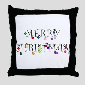 Merry Christmas (O) Throw Pillow