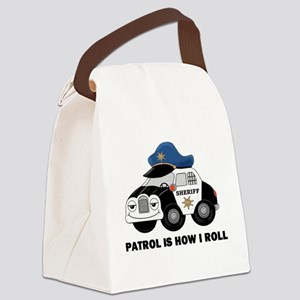 Sheriff Car Patrol Is How I Roll Canvas Lunch Bag
