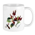 Rose Rosehips and Bee Mug