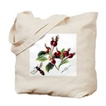 Rose Rosehips and Bee Tote Bag