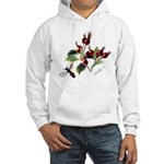 Rose Rosehips and Bee Hooded Sweatshirt