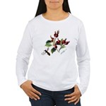 Rose Rosehips and Bee Women's Long Sleeve T-Shirt