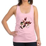 Rose Rosehips and Bee Racerback Tank Top