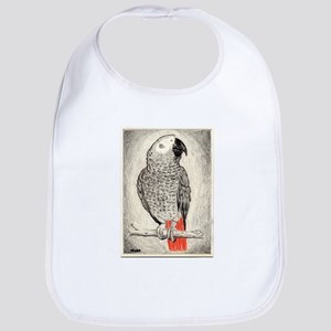 African Grey in Pencil Bib