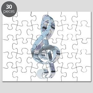 Silver Treble Clef Puzzle