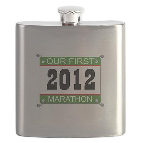 Our First Marathon Bib - 2012 Flask
