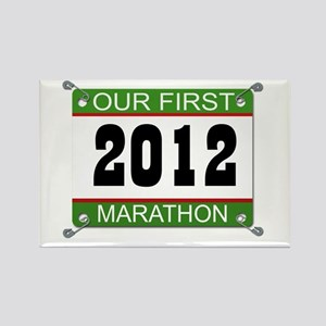 Our First Marathon Bib - 2012 Rectangle Magnet