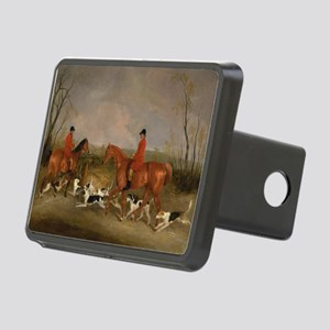 Hunters on Horses with Their Dogs Rectangular Hitc