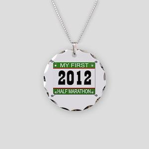 My First 1/2 Marathon Bib - 2012 Necklace Circle C
