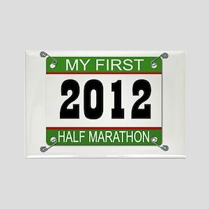 My First 1/2 Marathon Bib - 2012 Rectangle Magnet