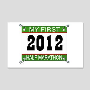 My First 1/2 Marathon Bib - 2012 20x12 Wall Decal