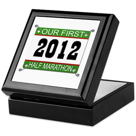 Our First 1/2 Marathon Bib - 2012 Keepsake Box