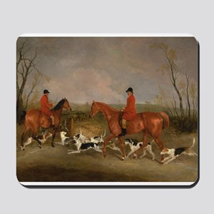 Hunters on Horses with Their Dogs Mousepad