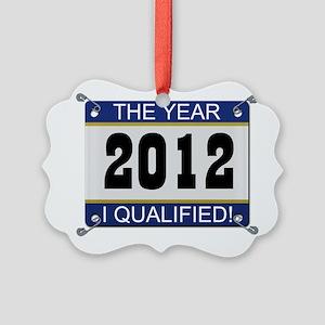 I Qualified Bib - 2012 Picture Ornament