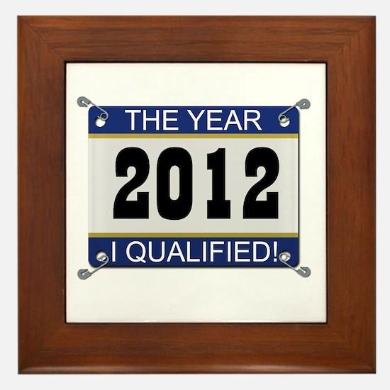 I Qualified Bib - 2012 Framed Tile