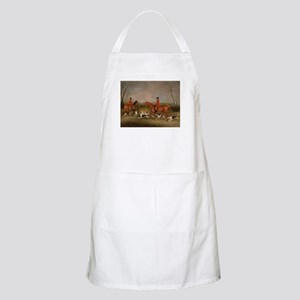 Hunters on Horses with Their Dogs Apron