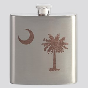 Palmetto & Cresent Moon Flask