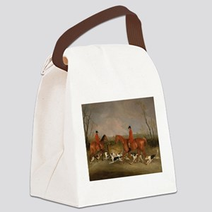 Hunters on Horses with Their Dogs Canvas Lunch Bag