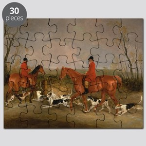 Hunters on Horses with Their Dogs Puzzle