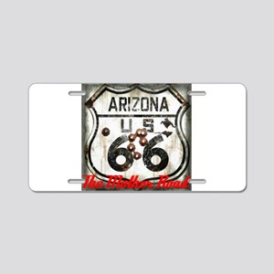 Arizona66Worn Out Aluminum License Plate