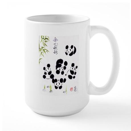 Happiness is getting along Large Mug