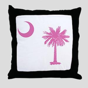 Palmetto & Cresent Moon Throw Pillow